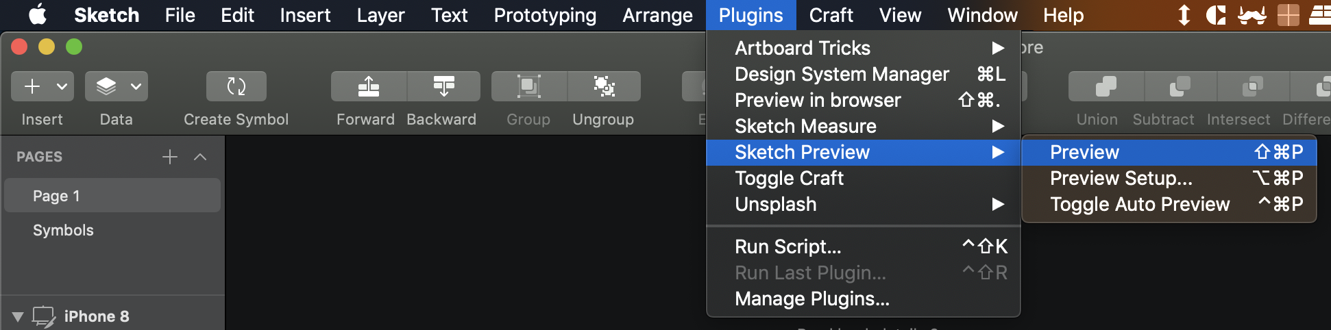 How to download Sketch preview using github