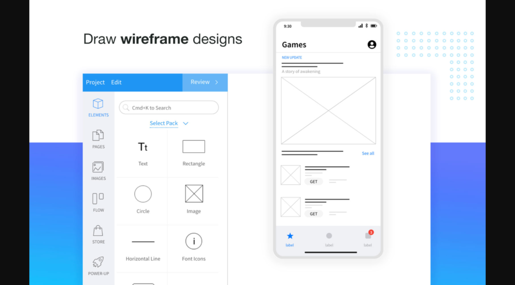 mock flow wireframe and ui ux design tool