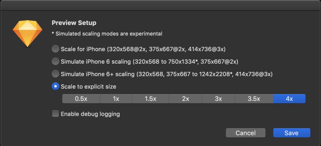 preferred settings for sketch preview sketch plugin