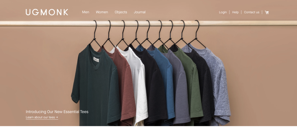 unity in website design example using clothes selling portal