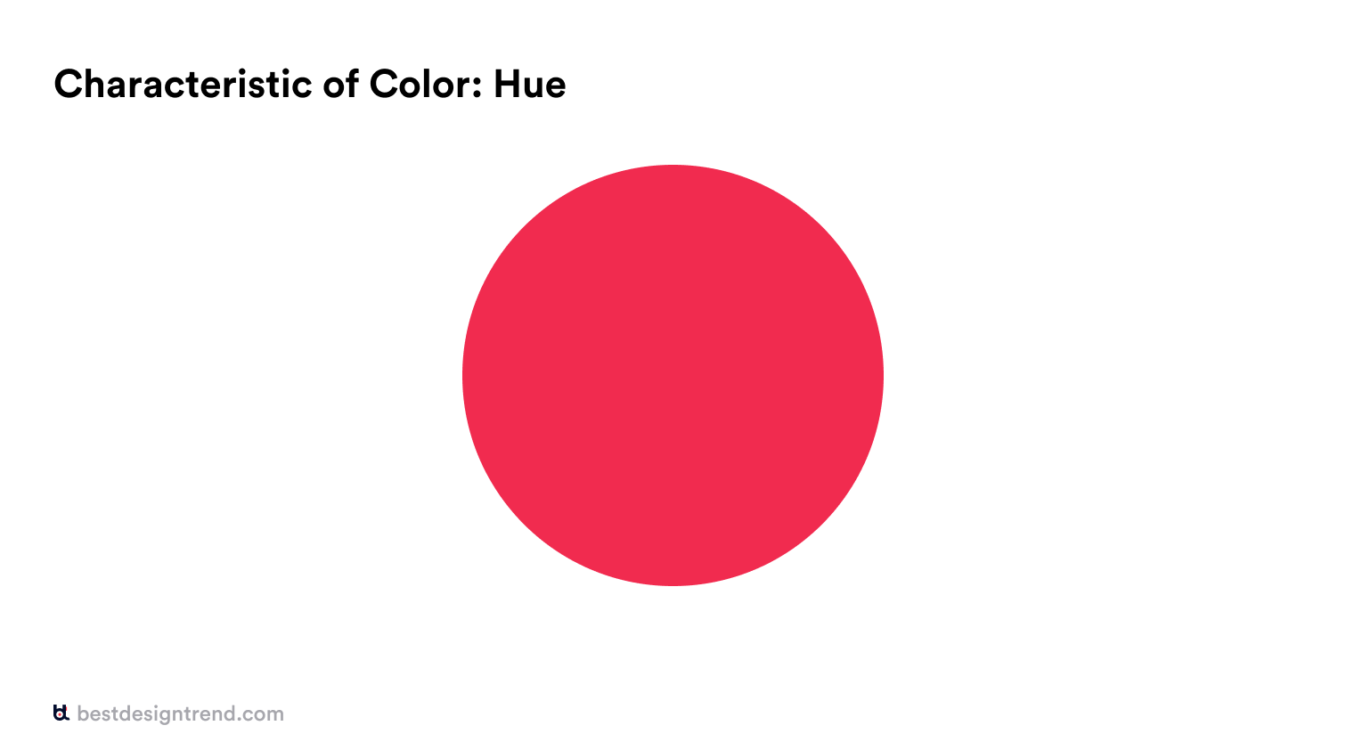 characteristic of color: hue