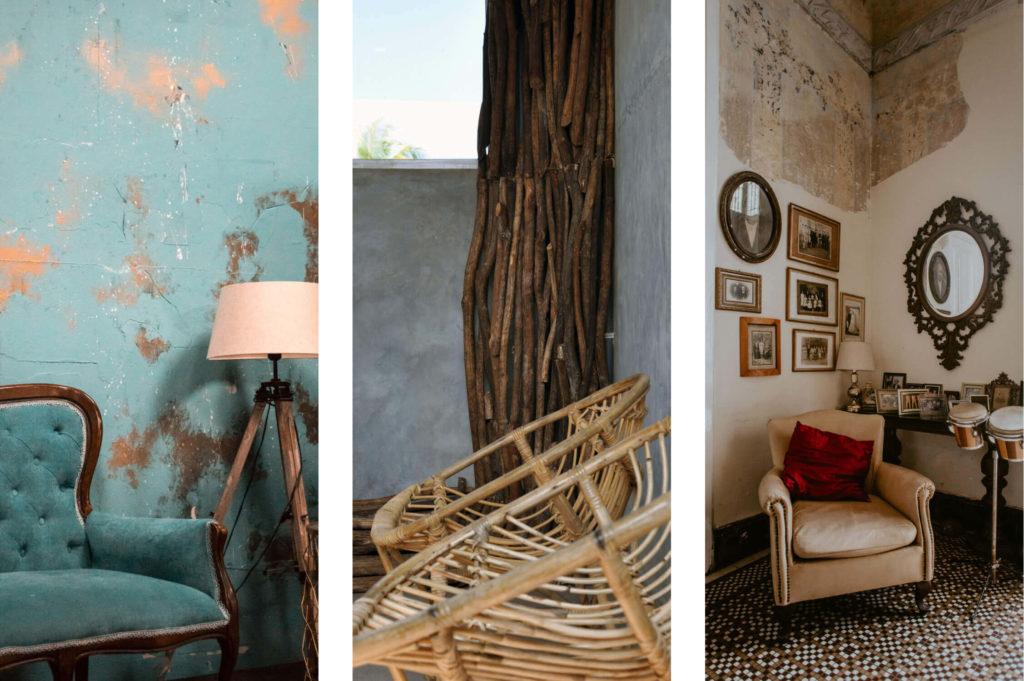 wabi-sabi for interior-design: three examples